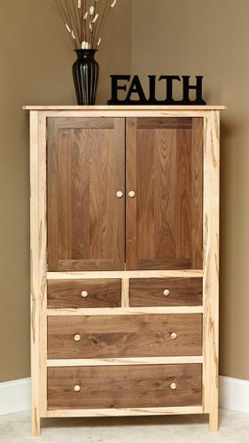 Cornwell Armoire, two-toned