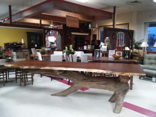 Sold -- Sycamore Live-edge Slab Table