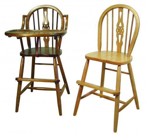 Windsor Child's Chair and High Chair