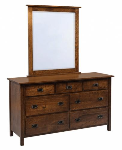 Elkins Low Dresser with mirror