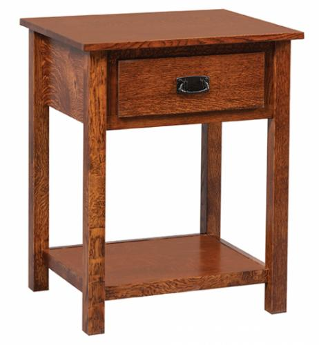 Elkins Open Nightstand with 1 drawer and 1 shelf