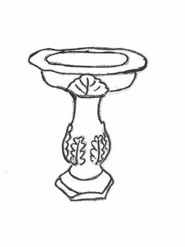 Deep Bowl One-Piece Birdbath - 19""