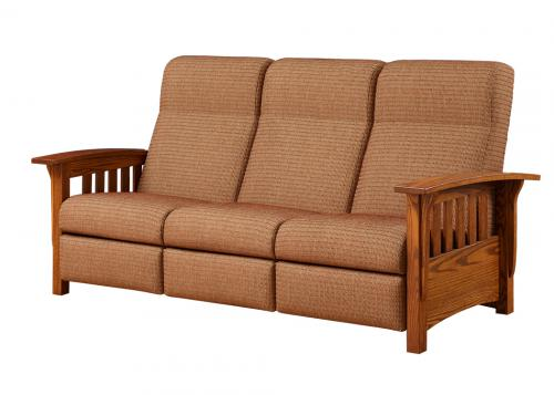 Classic Mission Recliner Sofa