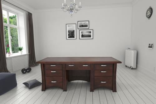 Double Pedestal Desk Room Display
