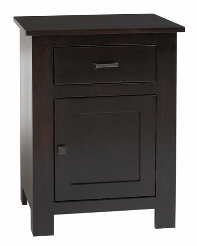 Horizon Shaker Nightstand with 1 drawer and 1 door