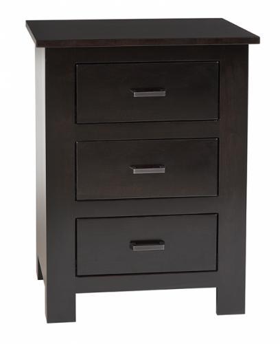 Horizon Shaker Nightstand with 3 drawers