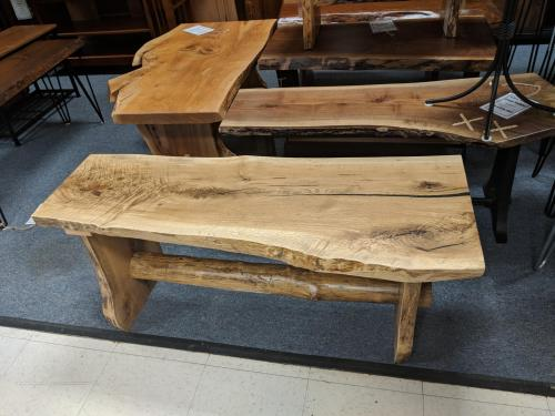 White Oak Live Edge Bench