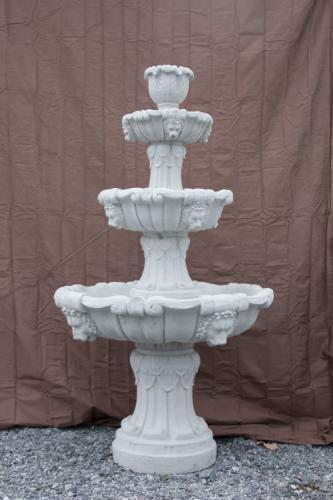 """Lion's Head Fountain - 32"""" diameter, 57"""" high"""