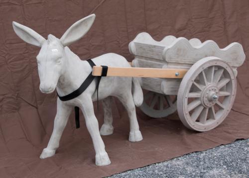 "Donkey - 25"" long, 23"" high; Cart - 20"" long, 16"" high"
