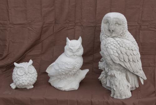 """Owl - 7"""", Horned Owl - 14"""", X-lg Ow - 20"""""""