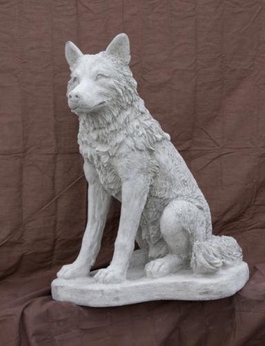 "Sitting Wolf - 30"" high"