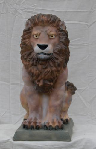Sitting Lion - medium 23""