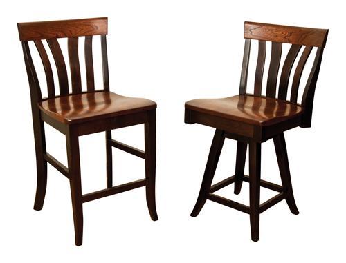 "Lennox 24"" Bar Chair and 24"" Swivel Barstool"