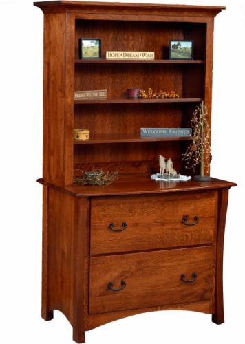 Master Lateral File Cabinet with Bookcase