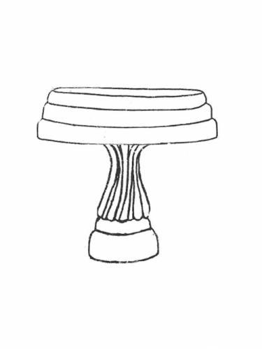 "Sharpe Sr. Bowl - 18"" diameter, Small Swirl Base - 14"" high"