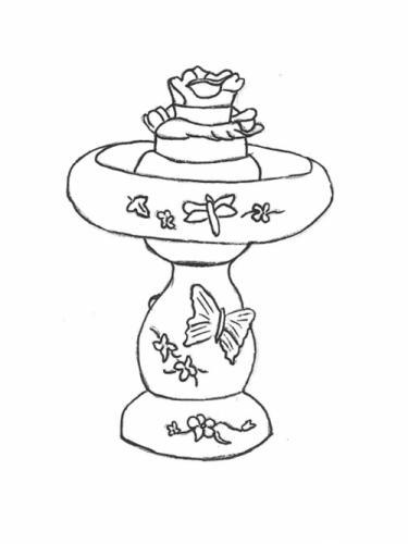"""Butterfly Fountain - 17"""" diameter, 25"""" high"""