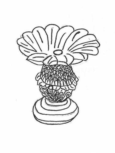 """Pineapple Feeder - 12"""" diameter, 13"""" high"""