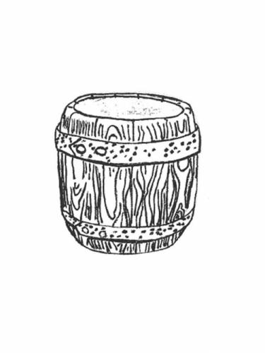 "Barrel Planter - 12"" diameter, 12"" high"