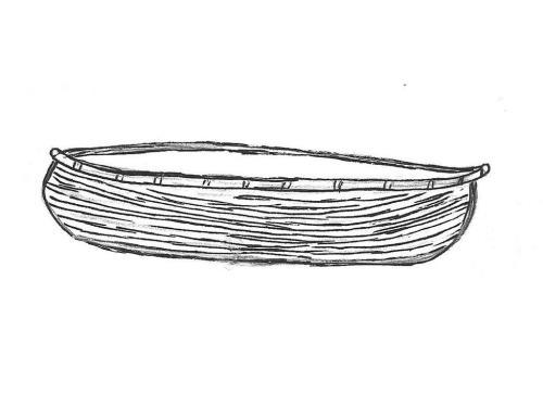 """Canoe - 4"""" high, 17"""" long"""