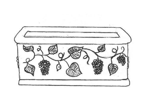 "Grapevine Planter - 13"" x 14"" x 28"" long"