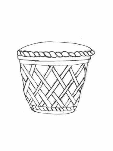 """Lattice Pot - 24"""" diameter, 18"""" high"""