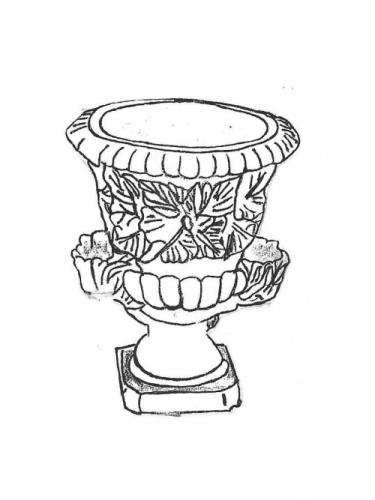 "Pocket Urn - 15"" diameter, 18"" high"