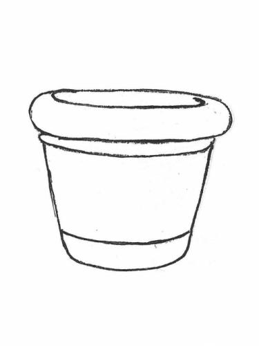 "Rolled Rim Pot - 24"" diameter, 20"" high"