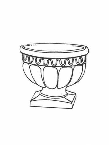 "Roman Jr. Pot - 15"" diameter, 13"" high"
