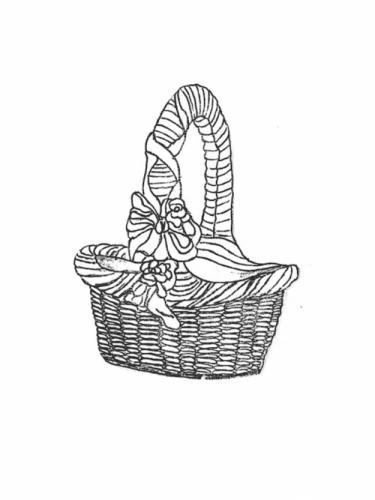 """Rose Basket - 17"""" x 22"""" high"""