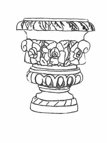 """Rose Vase - large, 24"""" diameter, 25"""" high"""