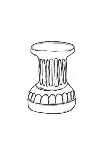 """Short Fluted Column - 15"""""""