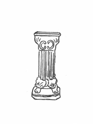 Footed Pedestal - 21""