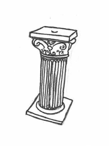 "Roman Column - tall, 29"" high"