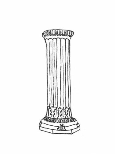 """Round Column - 10"""" diameter, 29"""" high"""
