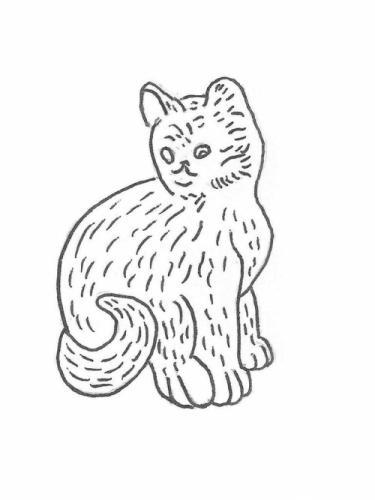 """Cat Sitting - 14"""""""