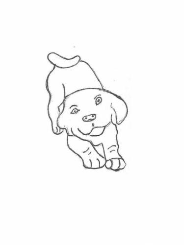 """Playful Pup - 10"""""""