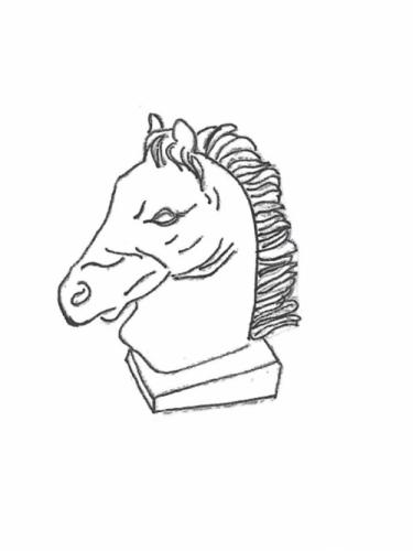 """Horse Head - 17"""" high"""