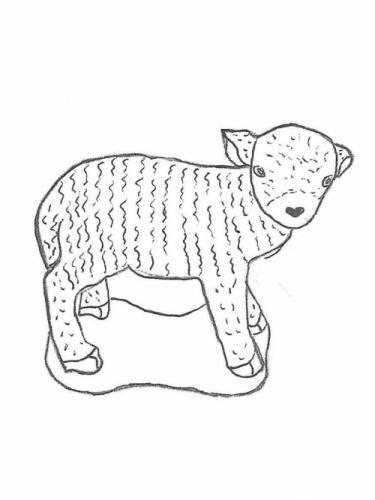 "Sheep - 18"" high"