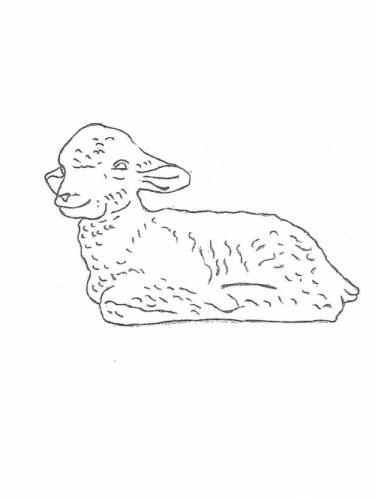 """Lamb Lying - 12"""" long"""