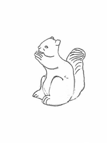 """Sitting Squirrel - 8"""" high"""