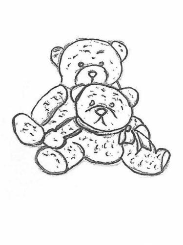 "Papa and Baby Bear - 10"" high"
