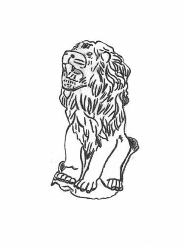 "Lion - large, roaring - 29"""