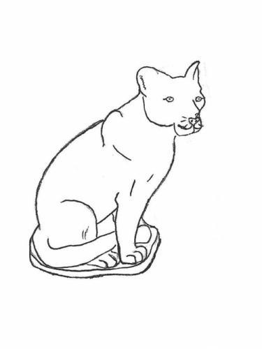 "Sitting Cougar - 21"" high"