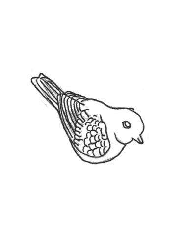 "Bird - tail up, 4"""