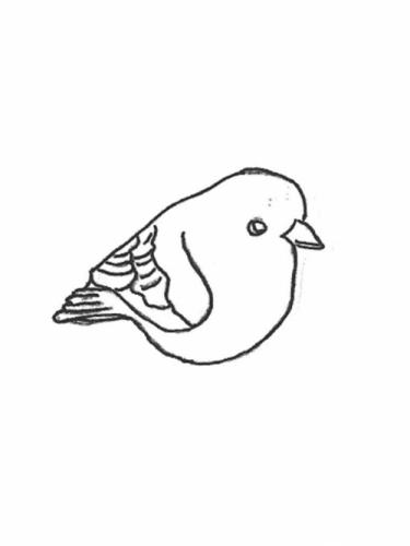 "Bird - tail down, 4"""