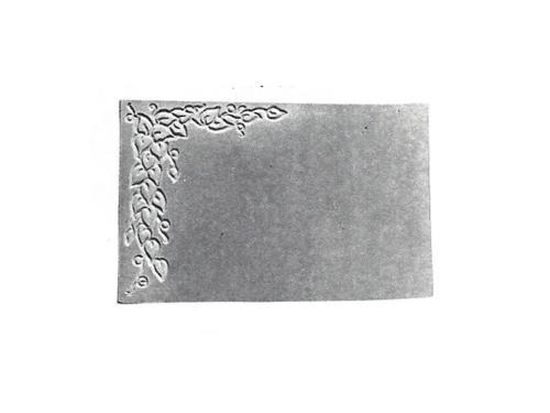 """Pet Marker Stone - Leaf Design - 7"""" x 11"""""""