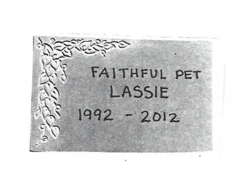 Custom Lassie Memory Stone