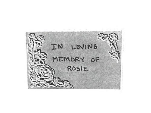 Custom Rosie Memory Stone