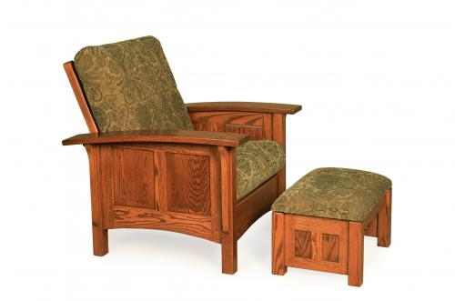 Paneled Mission Morris Chair and Ottoman