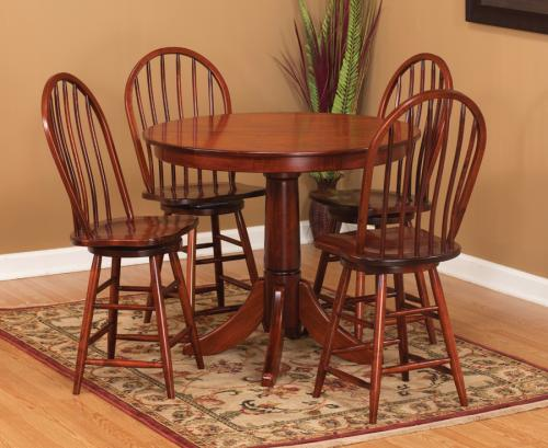 Pub Height Pedestal Table Set